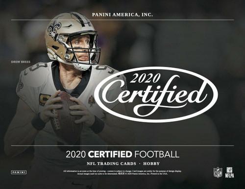 2020 Panini Certified Football Hobby 24 Box Case