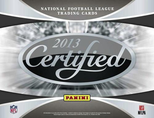 2013 Panini Certified Football Hobby 24 Box Case
