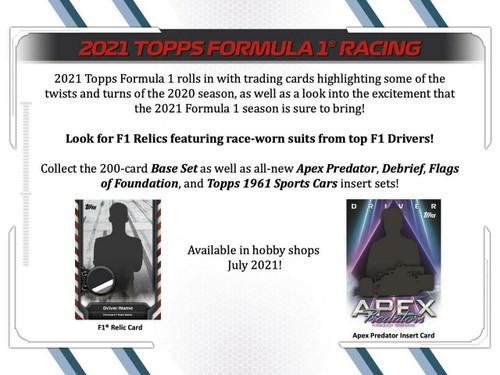 2021 Topps Formula 1 Racing Hobby 12 Box Case