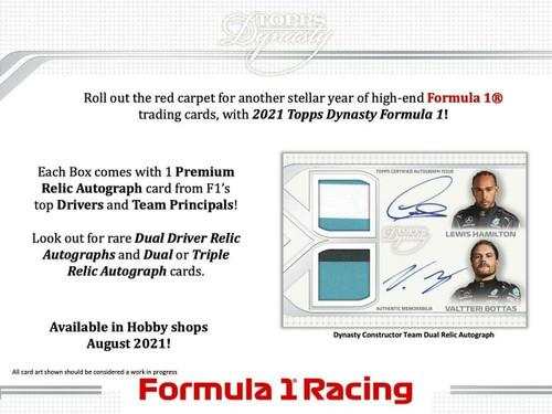 2021 Topps Dynasty Formula 1 Racing Hobby 5 Box Case