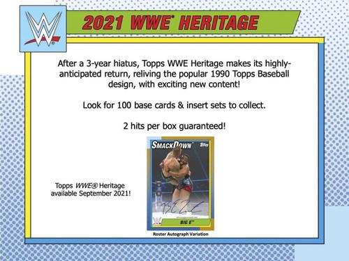 2021 Topps WWE Heritage Hobby Box