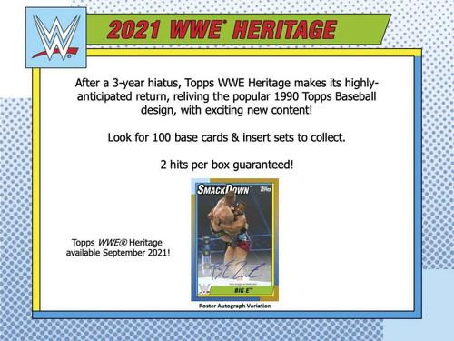 2021 Topps WWE Heritage Hobby 8 Box Case