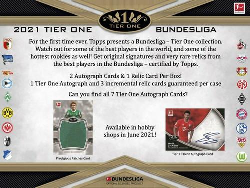 2021 Topps Tier One Bundesliga Soccer Hobby 12 Box Case