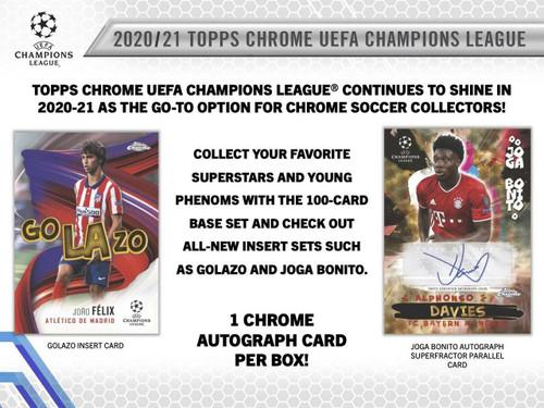 2020/21 Topps UEFA Champions League Chrome Soccer Hobby Box