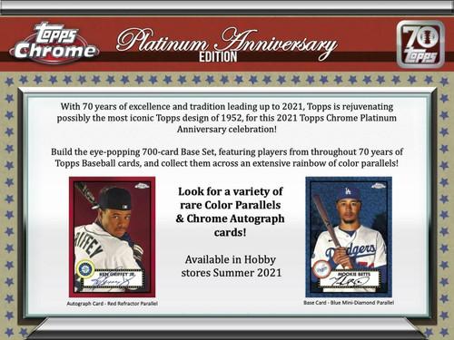 2021 Topps Chrome Platinum Anniversary Baseball Hobby Box