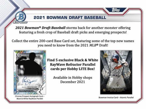 2021 Bowman Draft Baseball LITE Box