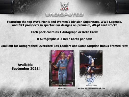2021 Topps WWE Undisputed Wrestling Hobby 8 Box Case
