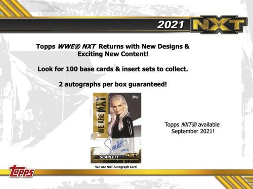 2021 Topps WWE NXT Wrestling Hobby 12 Box Case