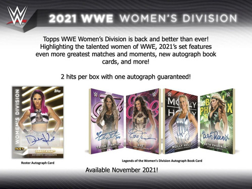 2021 Topps WWE Womens Division Hobby 12 Box Case