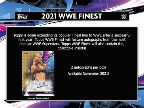 2021 Topps WWE Finest Wrestling Hobby 8 Box Case