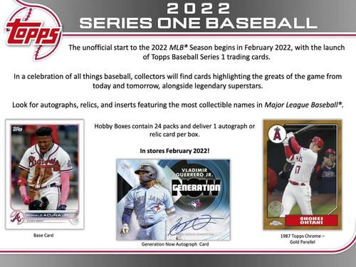 2022 Topps Series 1 Baseball Hobby Box