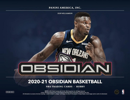 2020-21 Panini Obsidian Basketball Hobby 12 Box Case