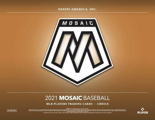 2021 Panini Mosaic Baseball Choice 20 Box Case