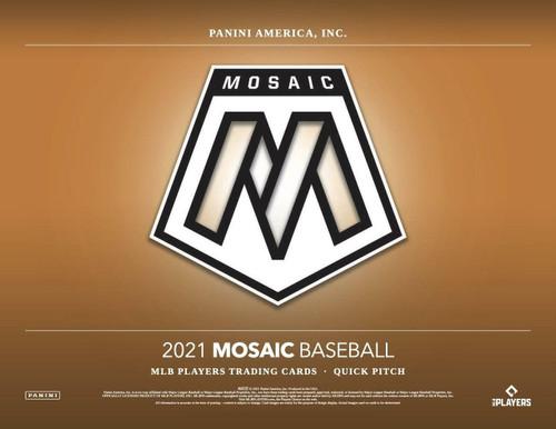 2021 Panini Mosaic Baseball Quick Pitch 20 Box Case