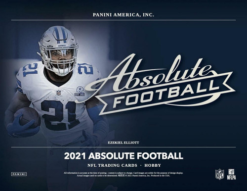 2021 Panini Absolute Football Hobby 12 Box Case