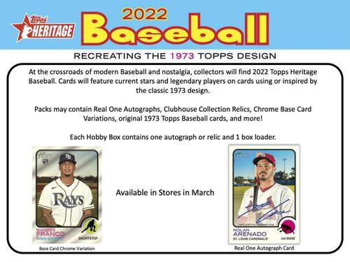 2022 Topps Heritage Baseball Hobby Box