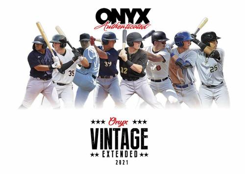 2021 Onyx Vintage Extended Series Baseball 24 Box Case