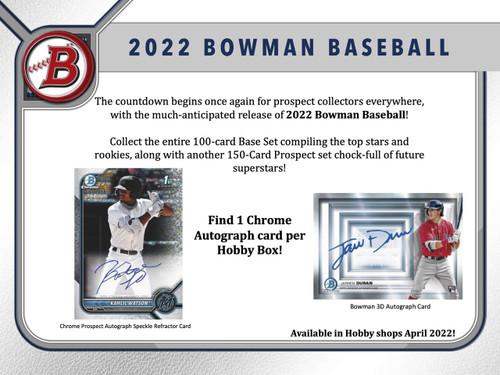 2022 Bowman Baseball Hobby Box