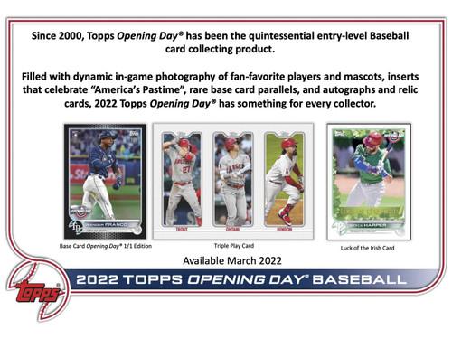 2022 Topps Opening Day Baseball Hobby 20 Box Case