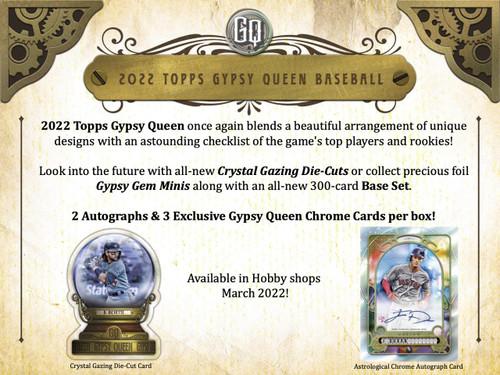 2022 Topps Gypsy Queen Baseball Hobby Box
