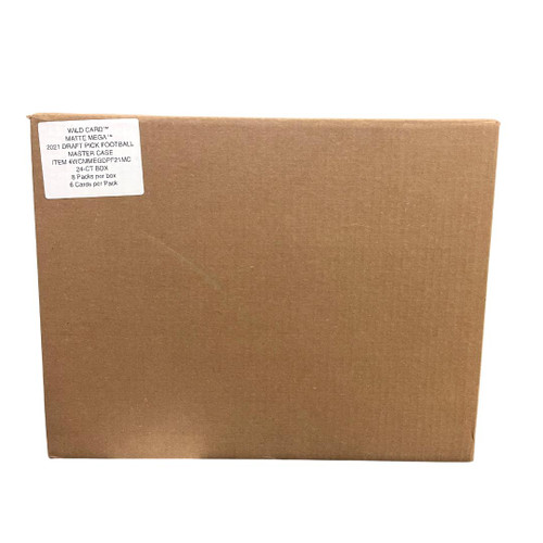 2021 Wild Card MATTE Football Mega 24 Box Case