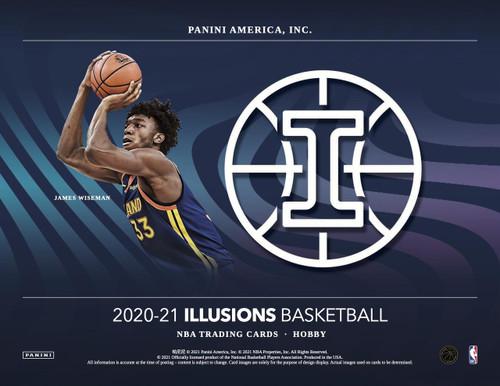 2020/21 Panini Illusions Basketball Hobby 12 Box Case