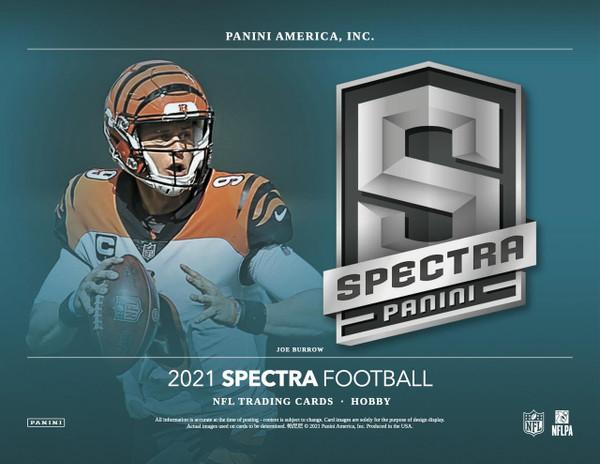2021 Panini Spectra Football Hobby 8 Box Case