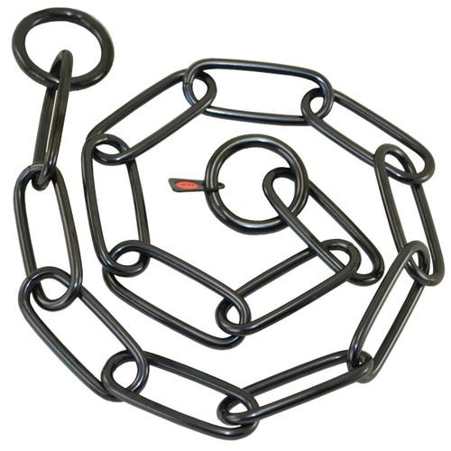 Black Long Link Stainless Steel Fur Saver Collar