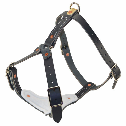 Gray Leather Padded Tracking Harness