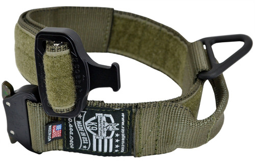 Cobra Buckle Dog Collar with Handle