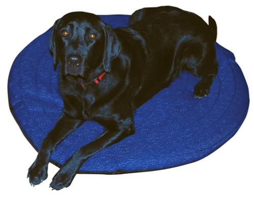 Round Working Dog Bed-Blue