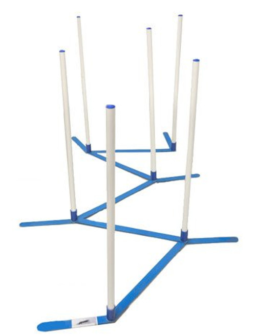 "Magmar Agility Weave Poles 24"" Spacing Set of 6 in Bag"