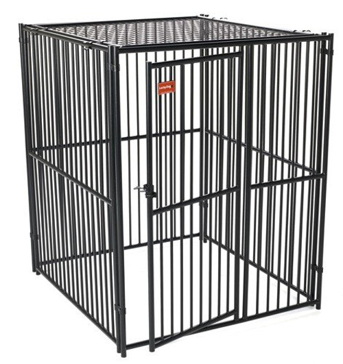 Lucky Dog European Style Kennel with Predator Top