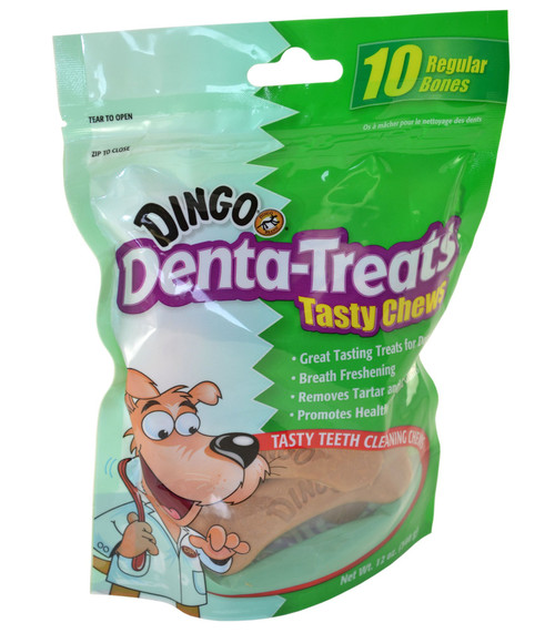 Dingo Denta-Treats Tasty Chews 10-Pack