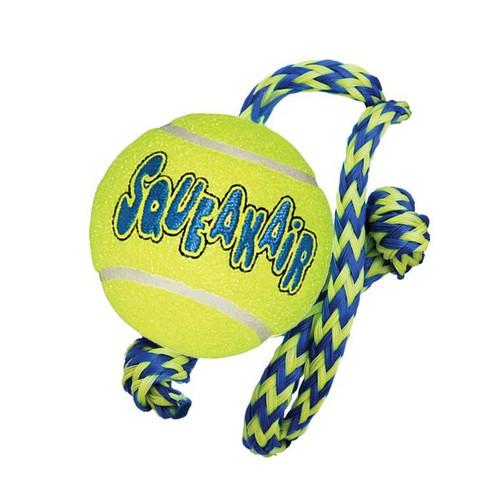 KONG Airdog Squeakair Ball on Rope