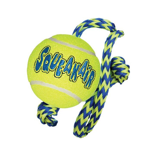 KONG Airdog Squeakair Ball on Rope