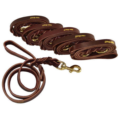 Burgundy Latigo Leather Leash - Volume Pricing