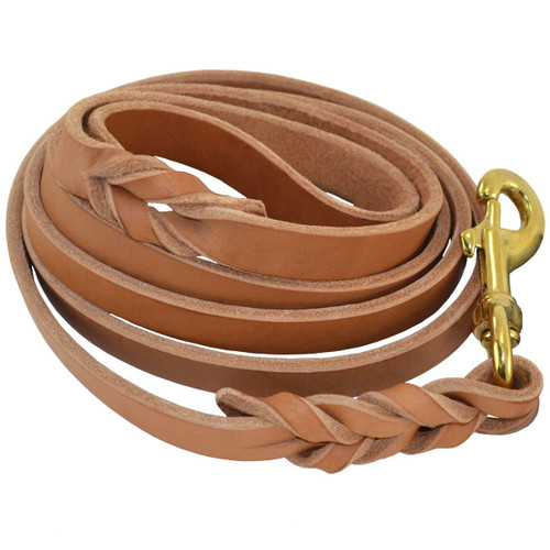 Heavy Duty Harness Leather Dog Leash