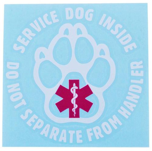 Service Dog Inside Paw Decal