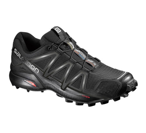 Salomon Men's Black/Black Metallic Speedcross 4