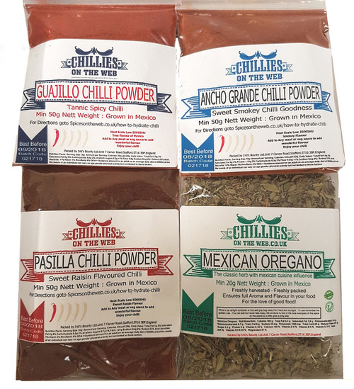 Holy Trinity Chilli Powder Pack Image by Chillies on the Web