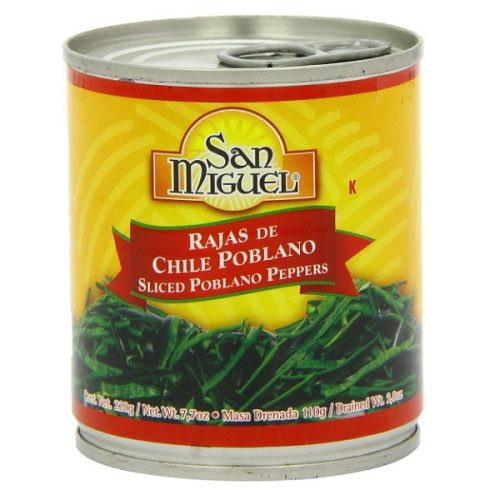 Poblano Rajas (Strips) by San Miguel 220g Image