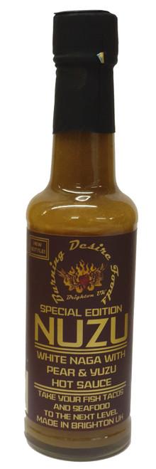Nuzu White Naga Hot Sauce Image by CHILLIESontheWEB