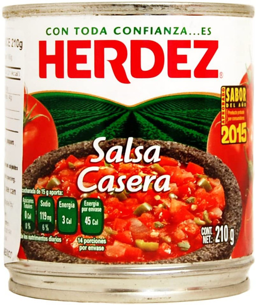 Herdez Casera Salsa 210g image by CHILLIESontheWEB