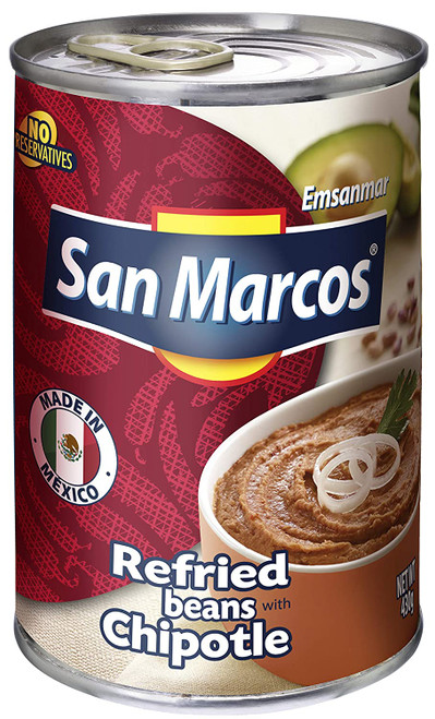 Refried Pinto Beans with CHIPOTLE by San Marcos 430g Image by SPICESontheWEB