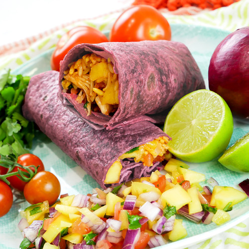 "Beetroot Flavoured Tortilla Wraps 12"" (30cm) Image by SPICESontheWEB"
