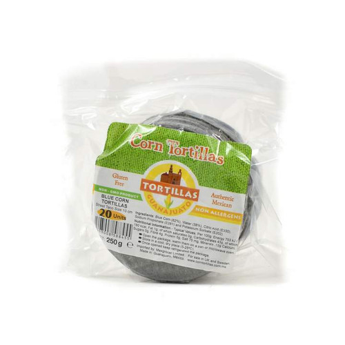 Blue Buffet Wraps - 10cm Corn Tortillas x 20