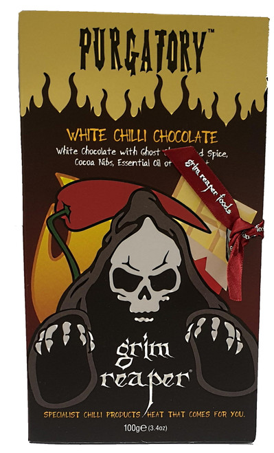 Purgatory Ghost Chilli White Chocolate with Bergamot Orange 100g Image