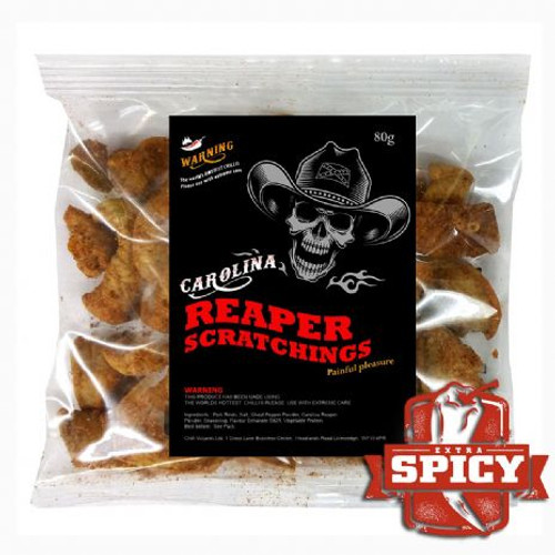 Carolina Reaper Pork Scratchings by SPICESontheWEB
