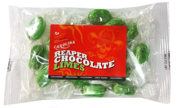 Carolina Reaper Chocolate Lime Sweets Image by SPICESontheWEB